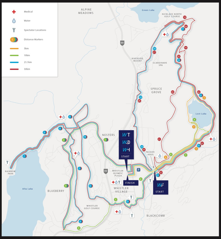 Course Map Whistler Half Marathon - Map your distance